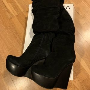 ALDO Ertel Over the Knee Boots Black Size 8